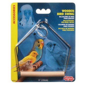 """נדנדת עץ לתוכי קטן ליווינג וורלד רוחב 10 ס""""מ"""