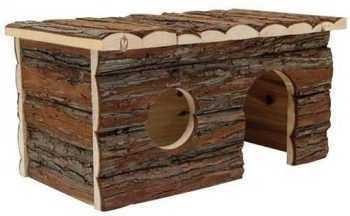 """בית עץ למכרסמים ליווינג וורלד אורך 41 ס""""מ"""