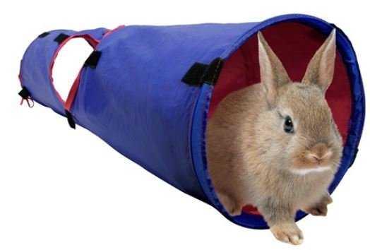 """שרוול משחק לארנבים ושרקנים ליווינג וורלד מנהרה באורך 90 ס""""מ"""