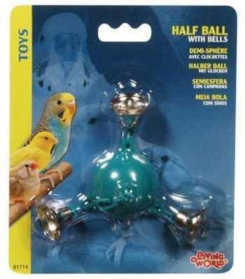 מתלה צעצוע 3 פעמונים לתוכים קטנים ליווינג וורלד