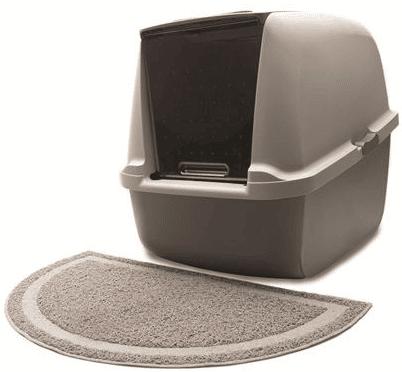 שטיח אפור לשירותים של חתול קטאיט
