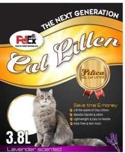 חול קריסטל לחתול פטקס לוונדר 3.8 ליטר
