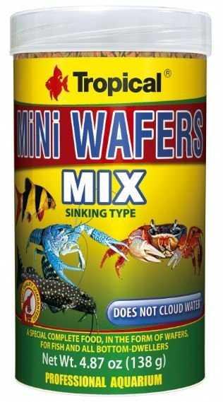 """אוכל לדגים מנקים לובסטרים וסרטנים 250 מ""""ל טרופיקל צ'יפס מיקס"""