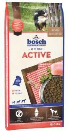 """אוכל לכלבים פעילים בוש אקטיב 15 ק""""ג"""