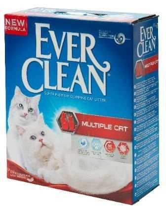אוור קלין אדום מולטי קט למספר חתולים