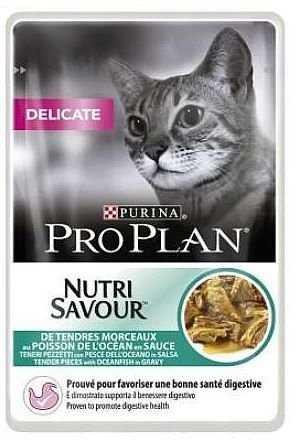 פאוץ' לחתול עם רגישות למזון פרו פלאן דליקט הודו ברוטב 85 גר'