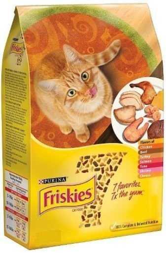 """פריסקיז 7 טעמים צהוב מיקס 7.26 ק""""ג לחתול"""