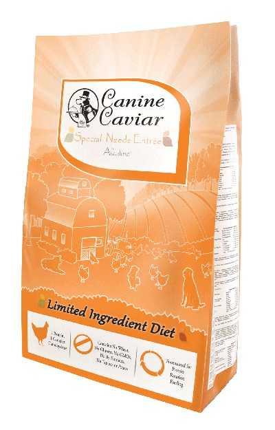 קנין קוויאר עוף ואורז חום לצרכים מיוחדים אוכל הוליסטי לכלבים