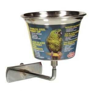 קערות נירוסטה לכלוב ציפורים ליווינג וורלד בגדלים שונים