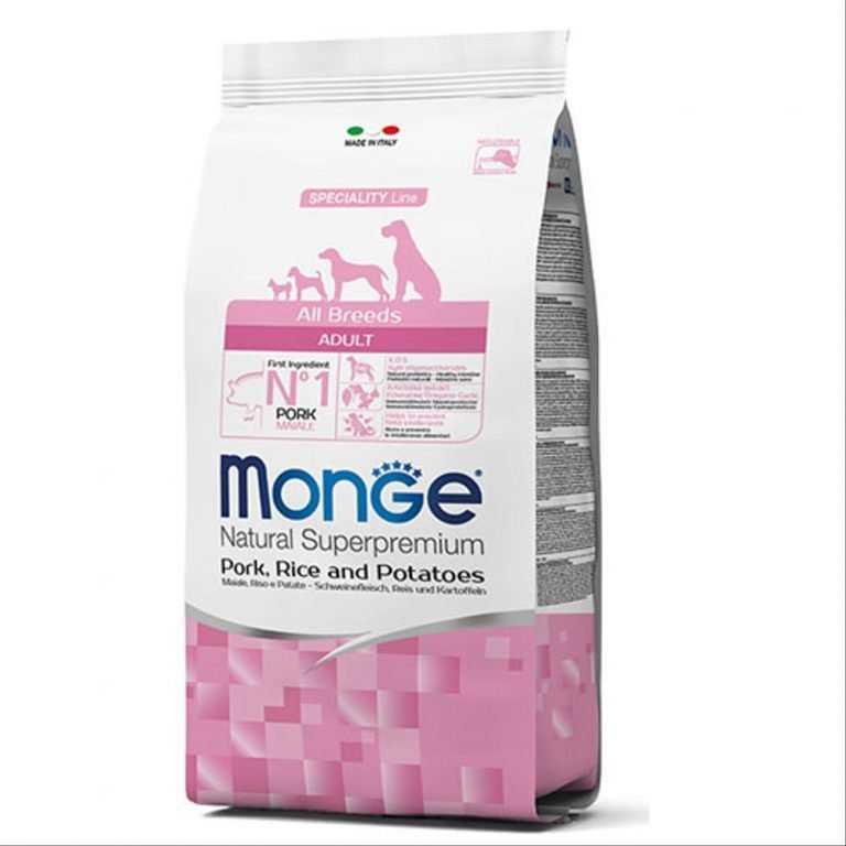"""אוכל לכלבים מונג' חזיר 12 ק""""ג"""