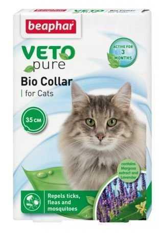 ביהפר וטו קולר טבעי לחתולים נגד קרציות