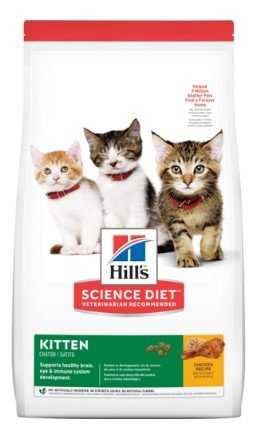 """אוכל לגורי חתולים בטעם עוף הילס סאיינס דאייט 3 ק""""ג"""