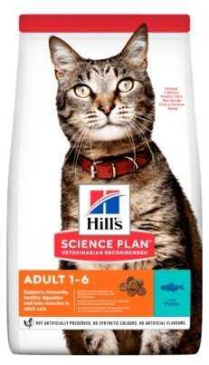 """מזון יבש בטעם טונה לחתולים הילס סאיינס פלאן 5 ק""""ג"""