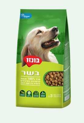 """בונזו בשר אוכל לכלבים 20 ק""""ג"""