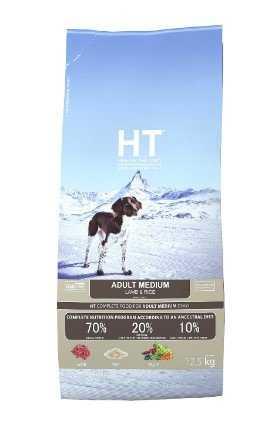 """מזון יבש לכלבים כבש ואורז HT 12.5 ק""""ג"""