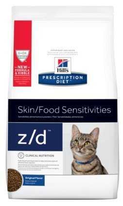 """מזון רפואי לחתולים עם רגישויות עור ובעיות עיכול הילס 3.8 ק""""ג"""
