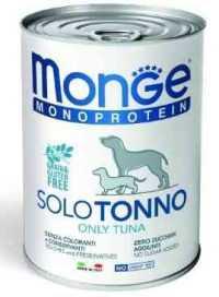 מונג' סולו טונה לכלב בוגר 400 גר'