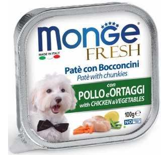 מונג' פרש פטה נתחי עוף וירקות לכלב 100 גר'