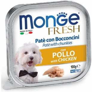 מונג' פרש פטה נתחי עוף לכלב 100 גר'