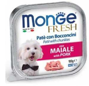 מונג' פרש פטה נתחי חזיר לכלב 100 גר'
