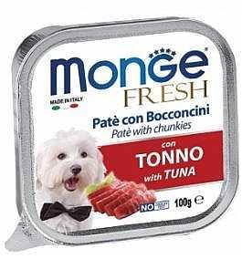 מונג' פרש פטה עם נתחי טונה לכלב 100 גר'
