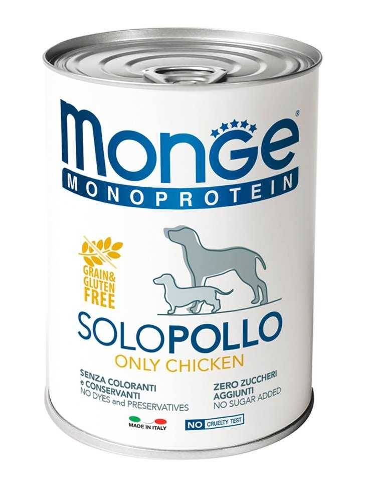 מונג' מונופרוטאין שימורי עוף לכלבים 400 גר'