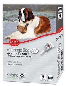 """סולנו סולפרים אמפולה נגד פרעושים לכלב בין 25-50 ק""""ג"""