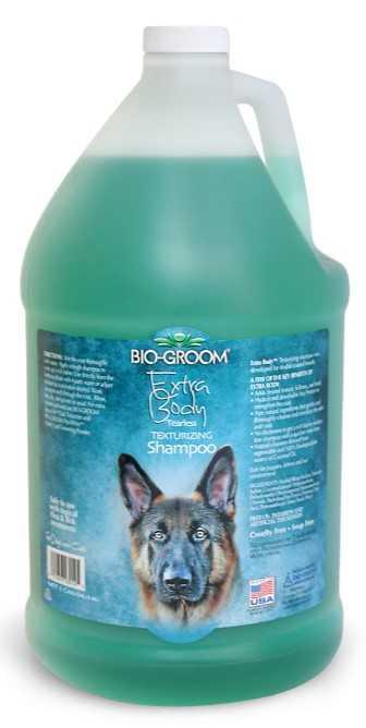 """ביו גרום אקסטרה בודי שמפו לכלבים עם פרוות שכבות או ארוכה 3.78 מ""""ל"""