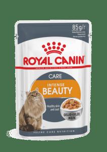 מעדן פאוץ` לחתול רויאל קנין אינטנס ביוטי ג`לי 85 גרם