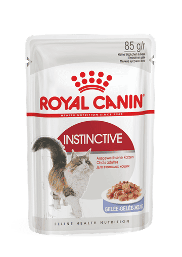 מעדן פאוץ` לחתול מבוגר רויאל קנין אינסטינקטיב 7+ ג`לי 85 גרם
