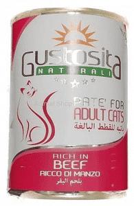 גוסטוסיטה לחתול פטה בקר 400 ג`