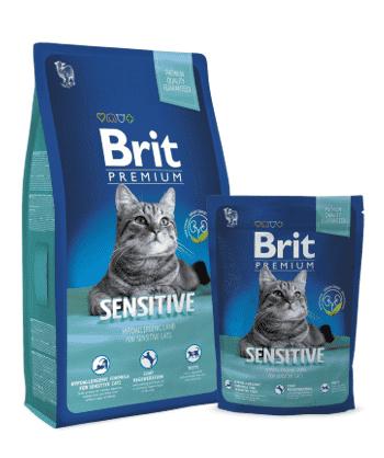 """בריט סנסטיב לחתולים 8 ק""""ג"""