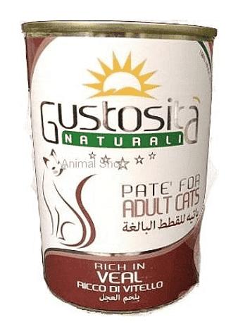 גוסטוסיטה לחתול פטה עגל 400 ג`