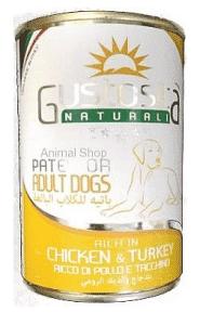 גוסטוסיטה לכלב פטה עוף והודו 400 ג`