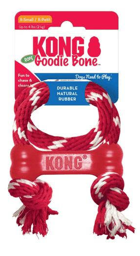 צעצוע לכלב קונג גודיז אדום XS עם חבל