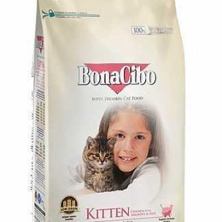 """בונאסיבו גורים עוף ואורז 1.5 ק""""ג לחתול"""