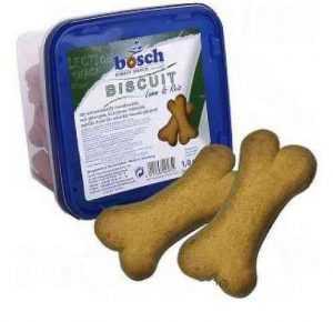 """ביסקוויט בטעם כבש בוש 1 ק""""ג לכלב"""