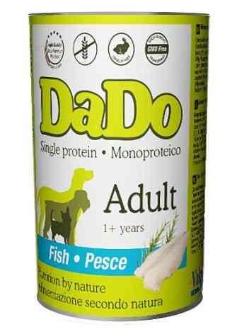 שימור דאדו דגים 400 ג' לכלב