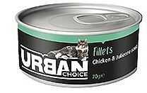 אורבן צ'ויס - מעדן פילה עוף ומרק ירקות 70 גר' לחתול