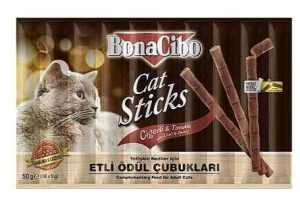 בונאסיבו חטיף עוף וכבד 10 יח' לחתול