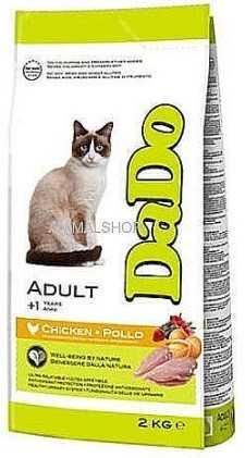 """דאדו - חתול בוגר עוף וחזיר 2 ק""""ג"""