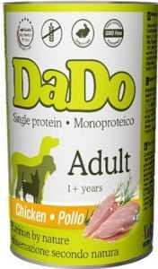 דאדו - שימור עוף 400 ג' לכלב