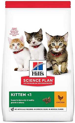 """הילס קיטן גורים עוף לחתול 3 ק""""ג"""