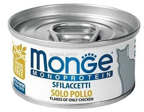 מונג׳ מעדן מונו עוף לחתול 80 גר׳