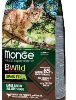 """מונג' בי ווילד בפאלו ותפו""""א ללא דגנים 1.5 ק""""ג לחתול"""