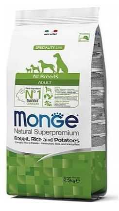 """מונג' ארנבת אורז ותפו""""א לכלב 2.5 ק""""ג"""