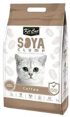 חול מתגבש קיט קט לחתול על בסיס סויה בריח קפה 7 ליטר