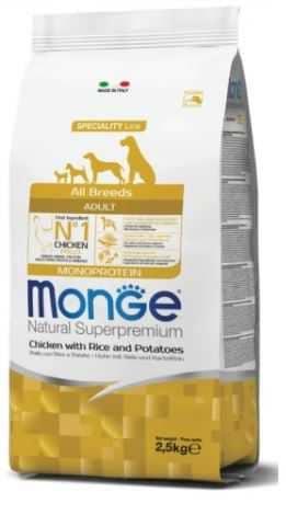"""מונג' עוף אורז ותפו""""א לכלב 2.5 ק""""ג"""