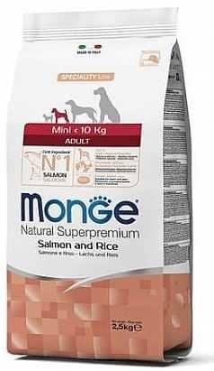 """מונג' גזע קטן סלמון ואורז לכלב 7.5 ק""""ג"""