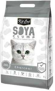 חול מתגבש קיט קט לחתול על בסיס סויה בתוספת פחם פעיל 7 ליטר